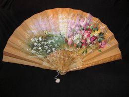Antique Tiffany Hand Painted Fan Circa 1880 (60 тыс рэ) (1)